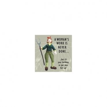 Land Girl 1940s style Birthday Card