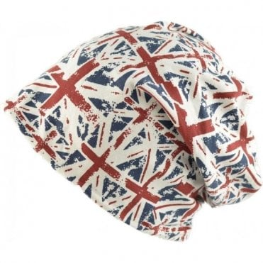 Union Jack Slouch Beanie Hat