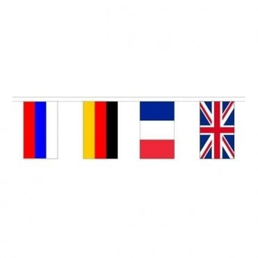 European Flag Polyester Bunting 8m