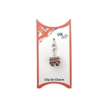 Clip on 3D Red London Bus Charm