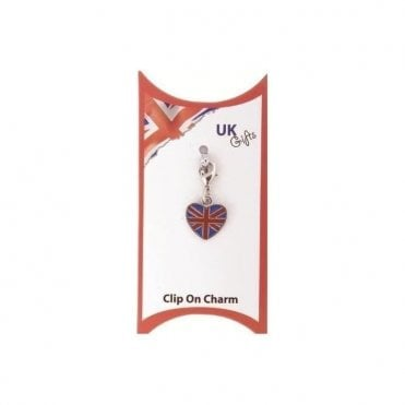 Union Jack Heart shaped Charm