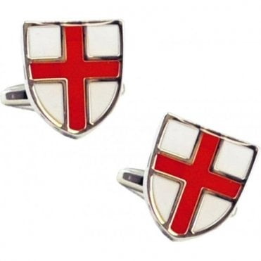 St George Cross Shield Cuff Links