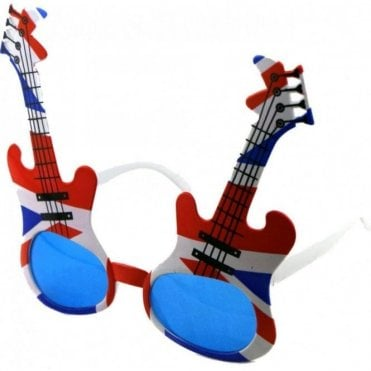 Union Jack Rock Guitar Sunglasses