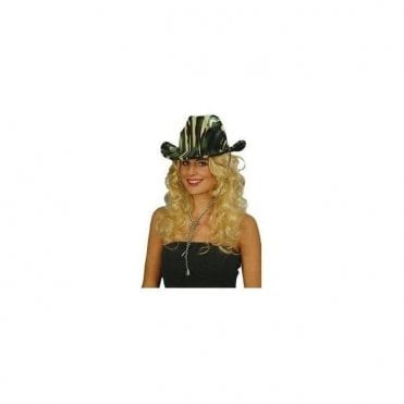 Safari Cowboy / Green Camouflage Hat