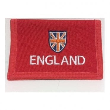 Red England Folding Wallet