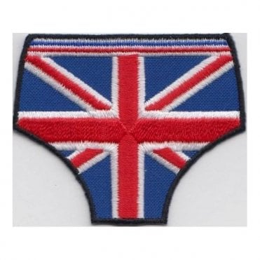 Union Jack Pants Embroidered Patch - Easy Iron On