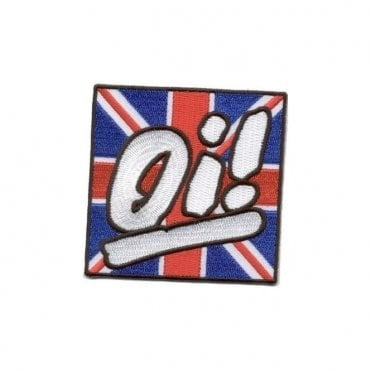 """Oi"" Union Jack Embroidered Patch"