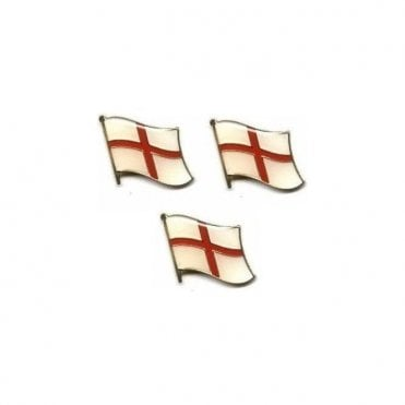 England St George Cross Waving Flag Pin Badge