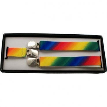 Rainbow Gay Pride Braces - Adjustable - 25 mm wide