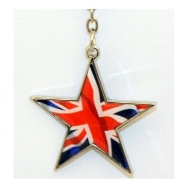 Union Jack Star Keyring