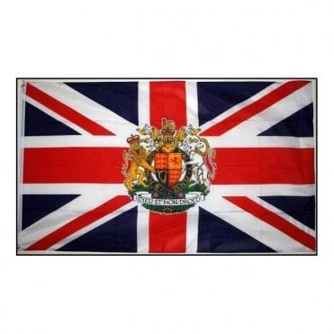 Union Jack Royal Crest Flag 5' x 3'
