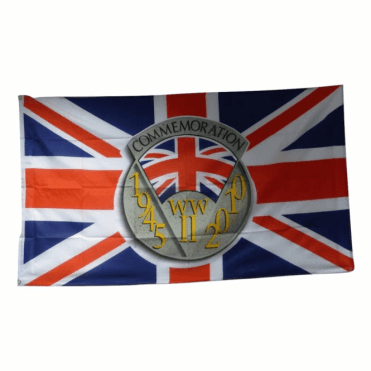 WWII Commemorative Flag 5' x 3' 65th Aniversary - Collectable