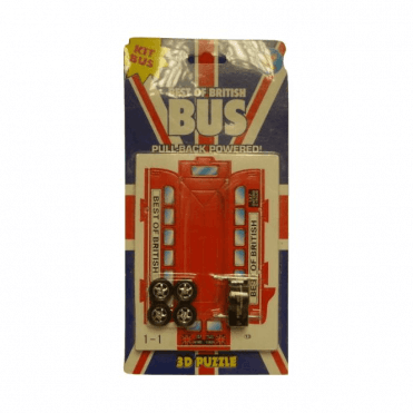 Best of British 3D Puzzle Bus With 'pull back motor'