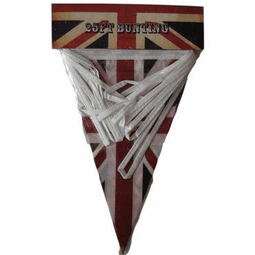 Union Jack Triangular Bunting 25ft