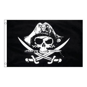 Skull with Cross Sabres 5' x 3' Flag