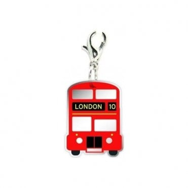 Big Red Bus Clip on Charm