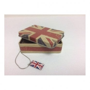 Union Jack Necklace in Gift Box