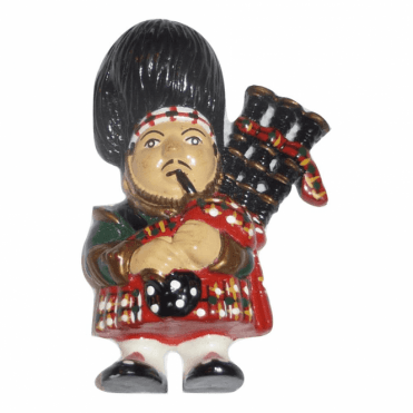 A Scottish Bagpiper Fridge Magnet