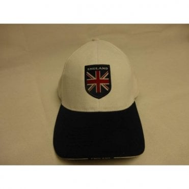 England Baseball Cap - White & Blue