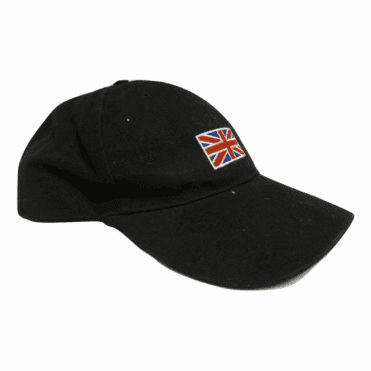 Union Jack Flag Baseball Cap in Black