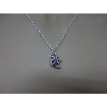 Union Jack Teapot Pendant in Gift Box