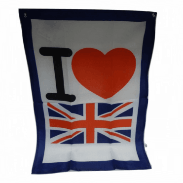 I Love Britain Tea Towel