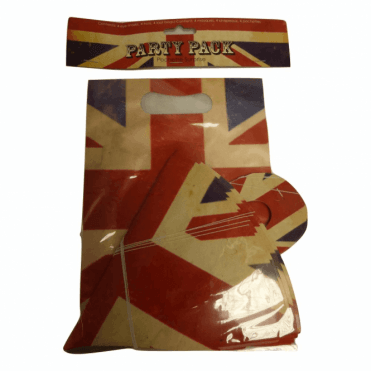 Union Jack Party Pack - Party bags, hats & Masks