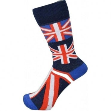 Union Jack Designer Socks Two Flags
