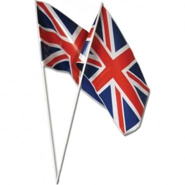 Pack of 12 Union Jack Hand Flags