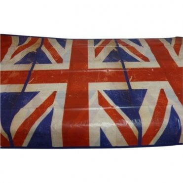 Union Jack Vintage Plastic Table Cover Tablecloth