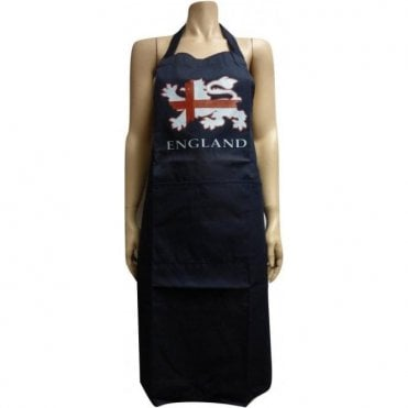 England Apron in Blue - Three Lions England