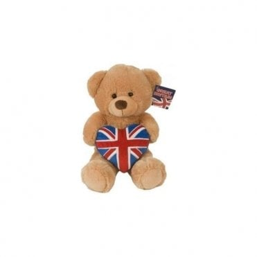 "Prince Louie the Bear 12"" Deluxe Union Jack Teddy Bear"