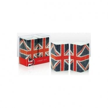 Union Jack Typography Cruet Set