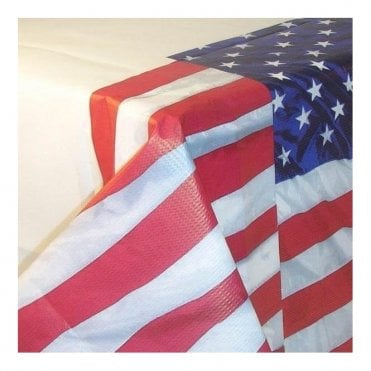 USA Flying Colours Paper Tablecover America Table Cloth Stars & Stripes