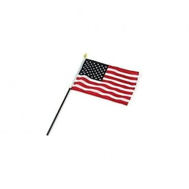 American USA Hand Flags - 6 Pk
