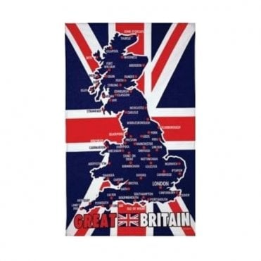 Great Britain Map Tea Towel