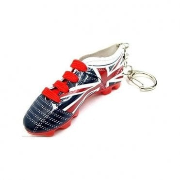 Union Jack Football Boot Keyring