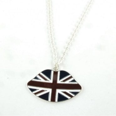 Union Jack Lips Necklace