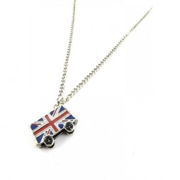 Union Jack London Bus 3D Pendant Silver finish