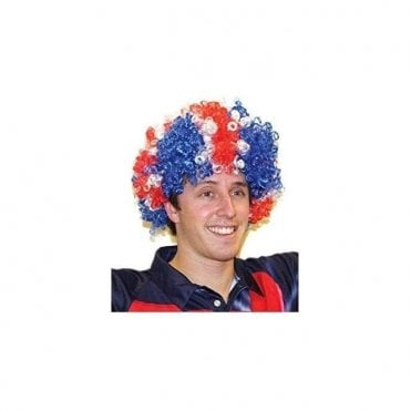 Union Jack Large Afro Pop Wig