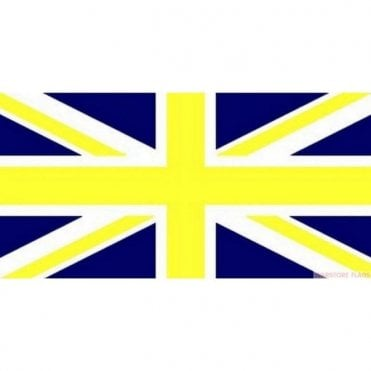 Blue and Yellow Union Jack Flag 5' x 3' Great Britian