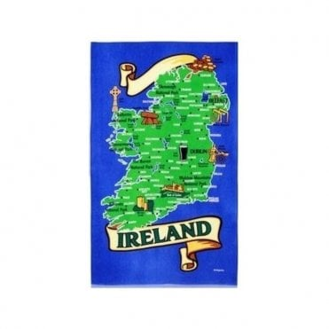 Map of Ireland Tea Towel