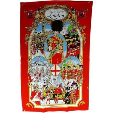 Pomp and Ceremony of London Tea Towel