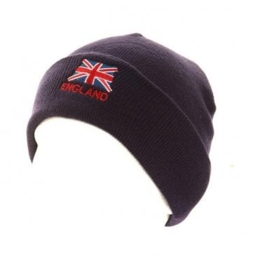 England Union Jack Ski Hat with turn up
