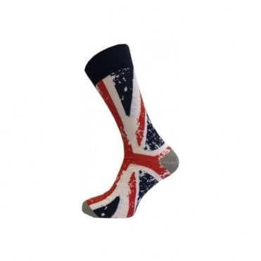 Ladies Union Jack Abstract Design Socks UK Size 4-8