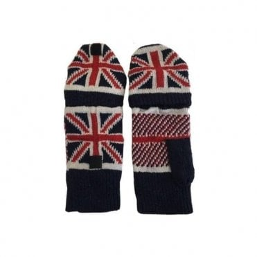 Union Jack Fingerless Mitten Gloves