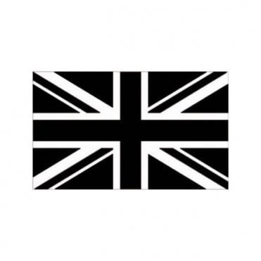 Black Union Jack Flag. Black and White 3' x 2'