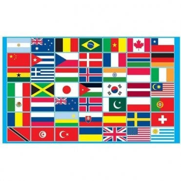 Multi Country Flag 5' x 3'