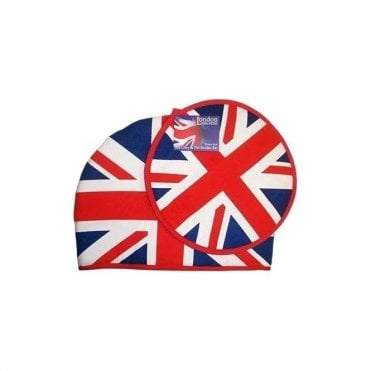 Union Jack Tea Cosy & Pot Holder Set