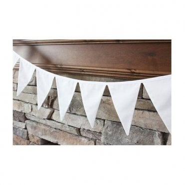 White Pennant Bunting 5m ( 17 feet )